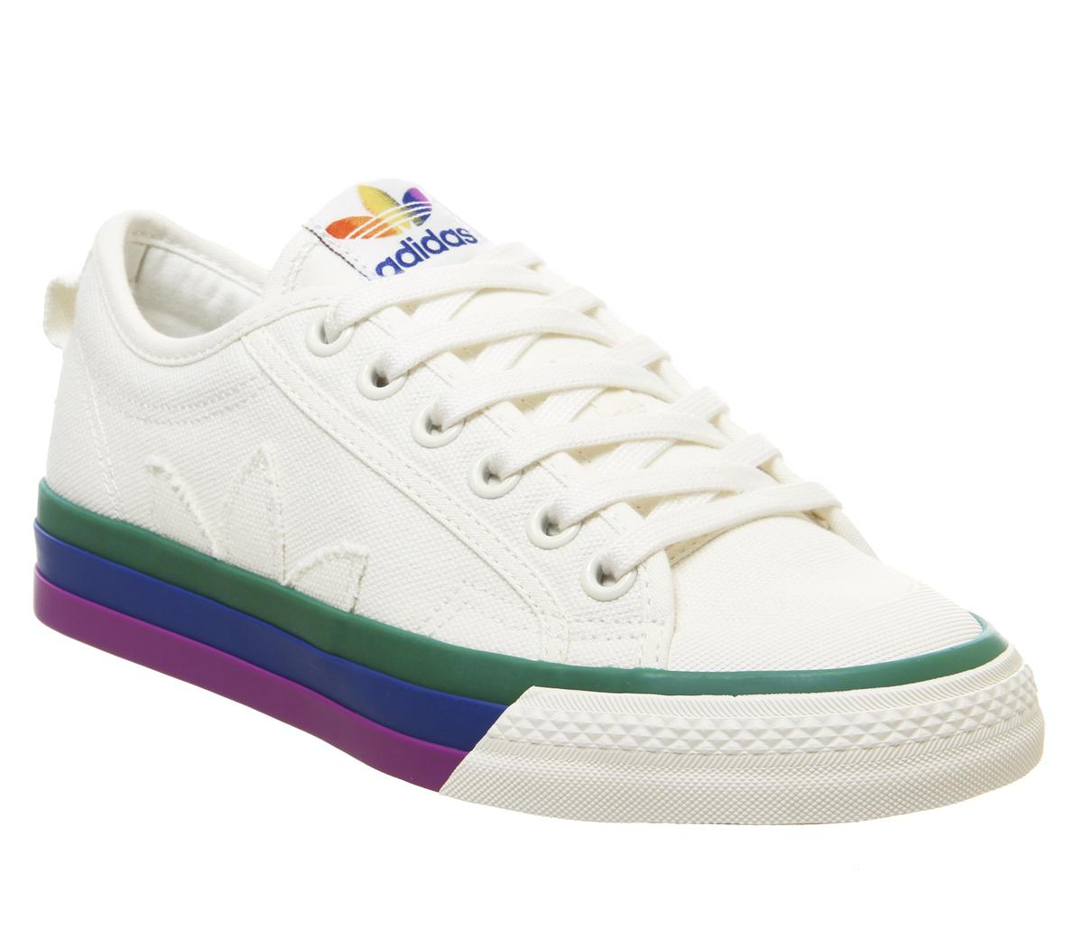 adidas Nizza Trainers Off White Pride - Sneaker damen