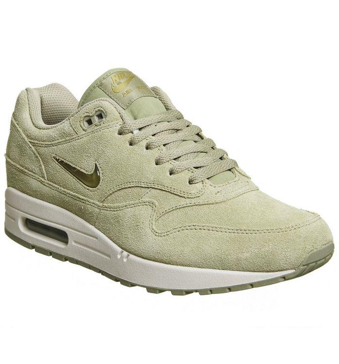 brand new 34763 23ef8 ... Nike, Air Max 1 Jewel, Neutral Olive ...