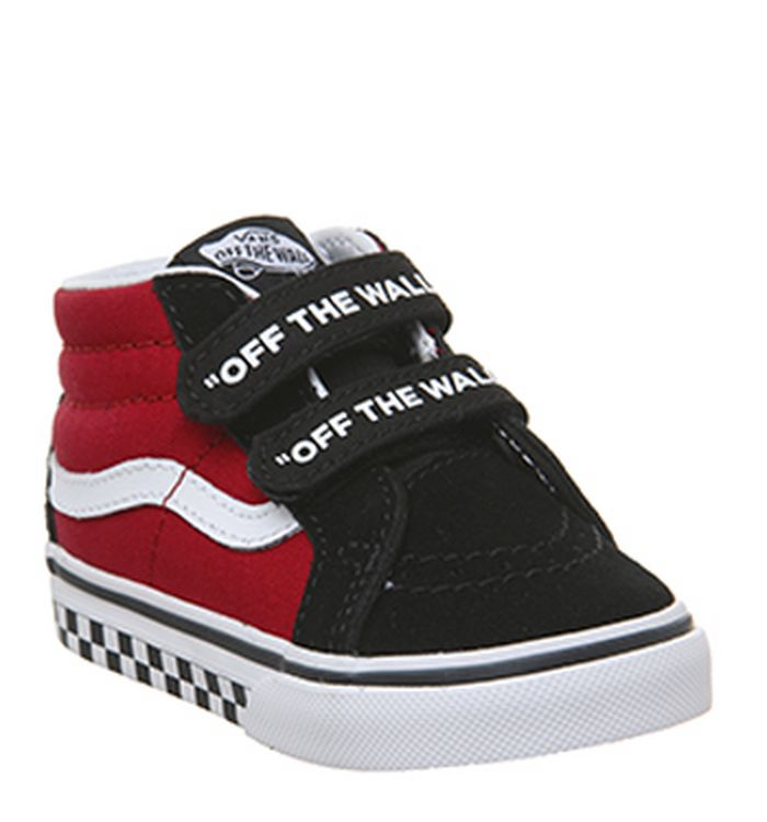 054c016ba6f403 24-01-2019 · Vans Sk8 Mid Reissue Toddler V Trainers Black True White Logo  Pop