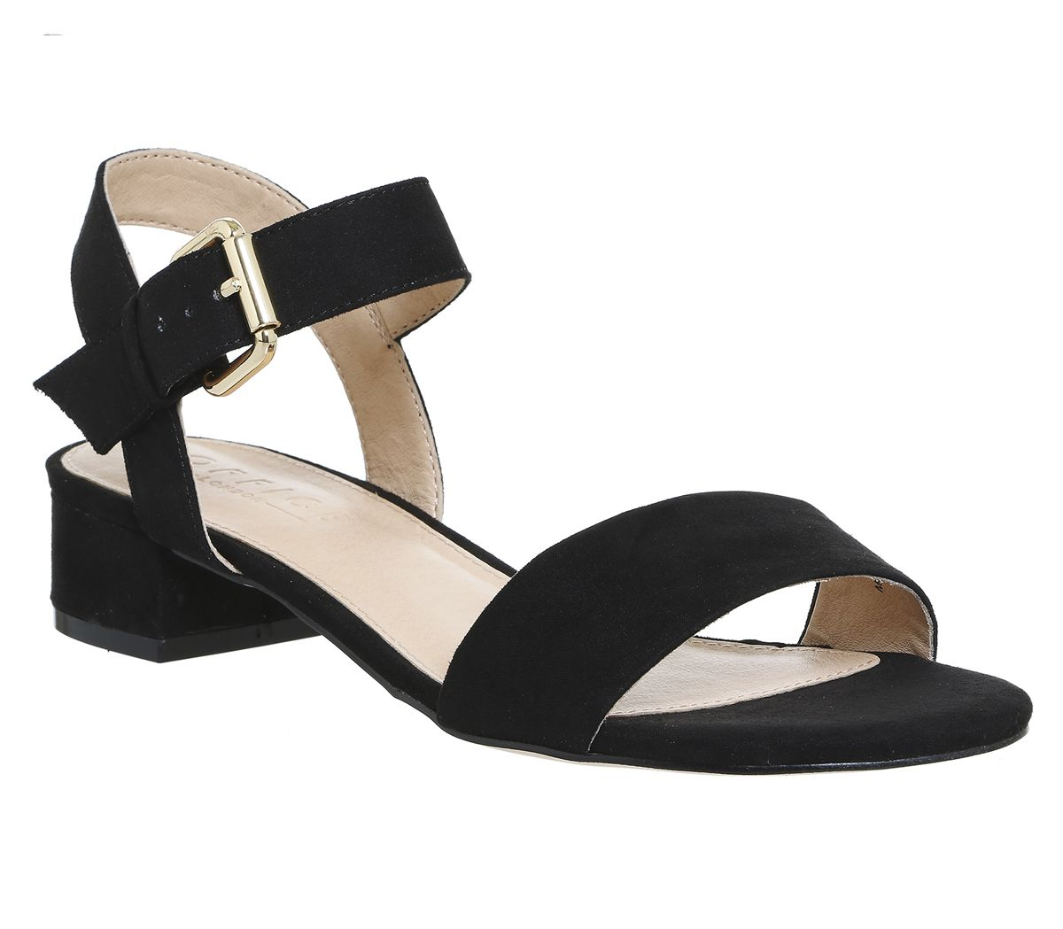 68c67817b0e Office Morgan Block Heel Sandals Black - Mid Heels