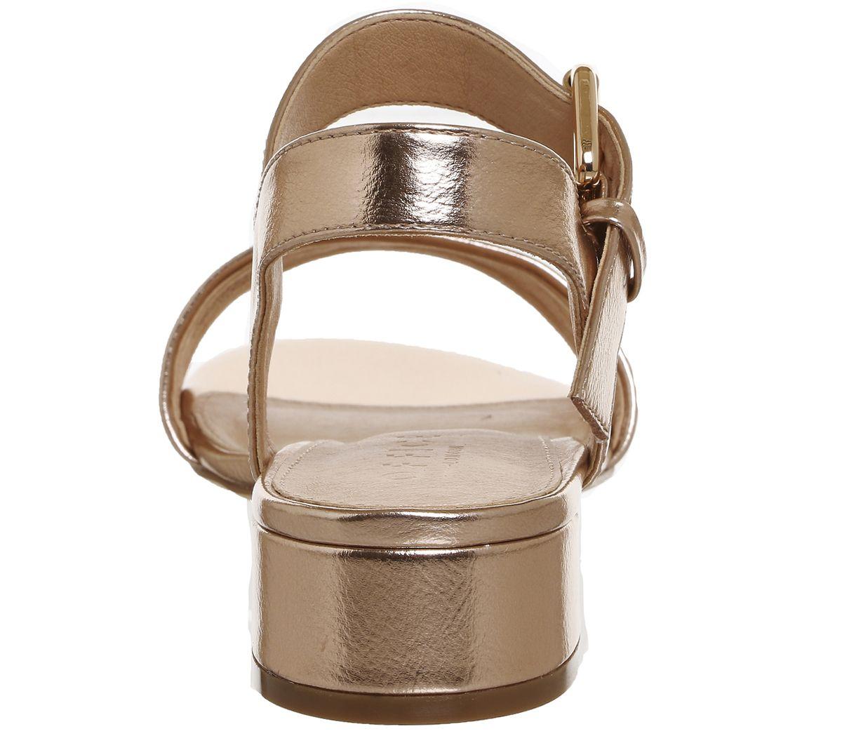 f66b924f91c Office Morgan Block Heel Sandals Rose Gold - Mid Heels