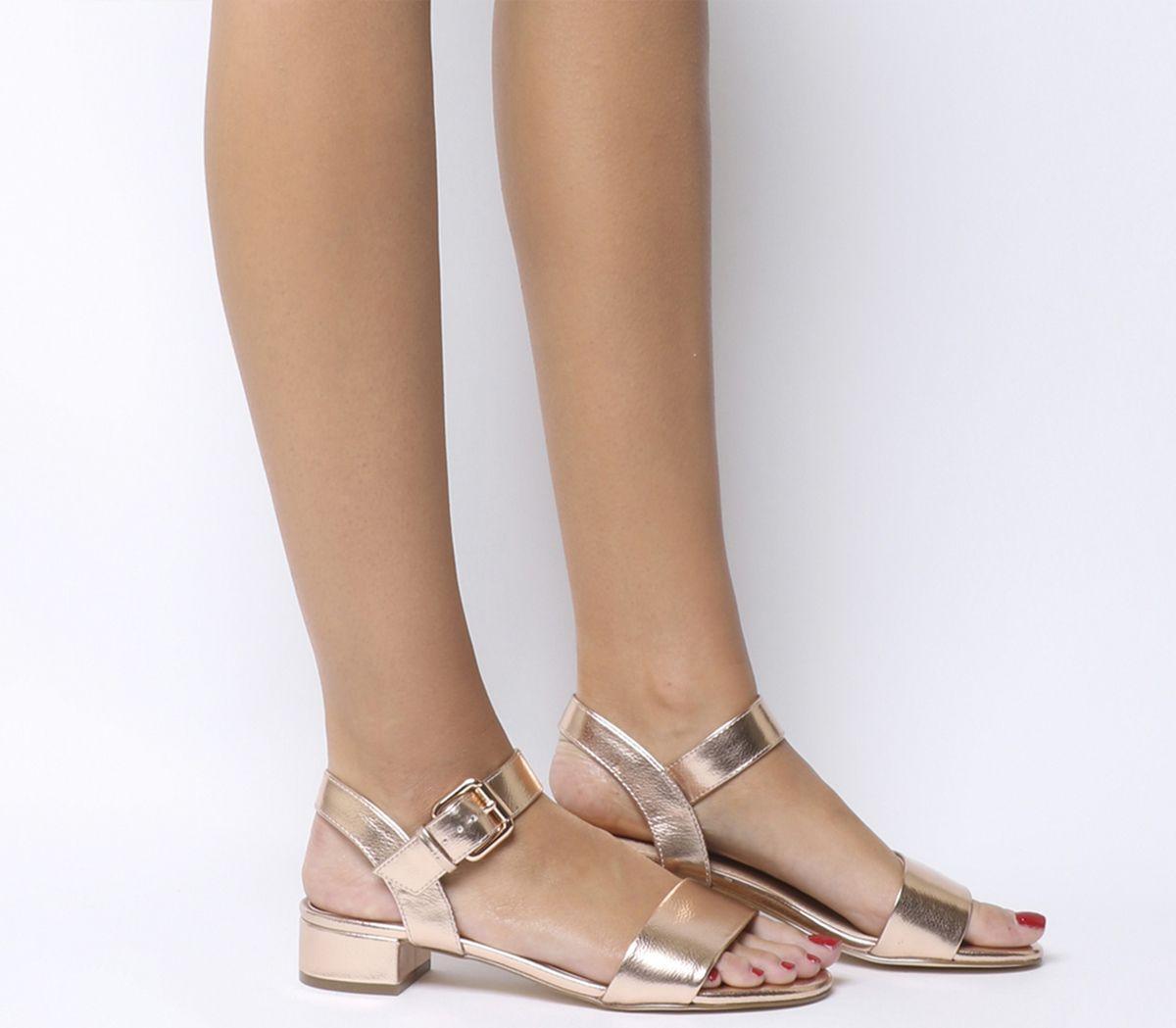 cbb6eaeae2d Office Morgan Block Heel Sandals Rose Gold - Mid Heels