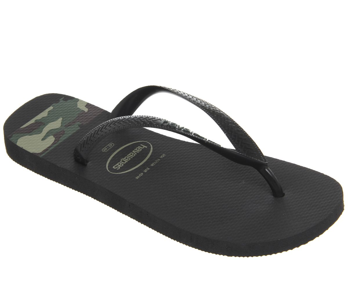 92bb04cb6 Havaianas Top Stripes Logo Black Camo - Sandals