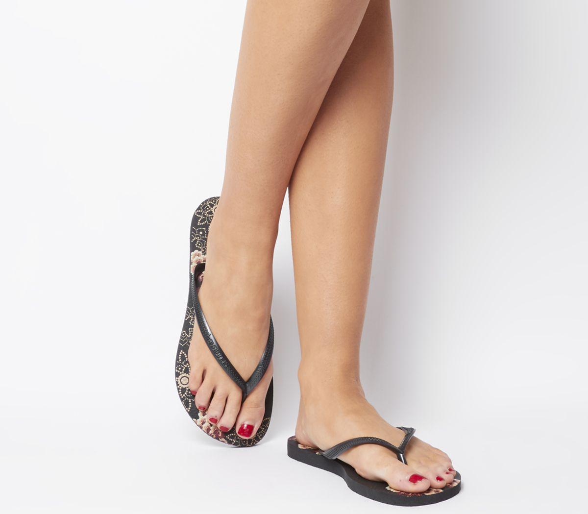 85227a1b8 Havaianas Slim Organic Flip Flops Black - Sandals