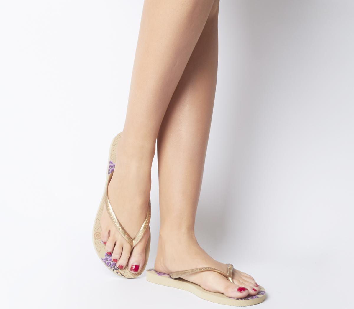 05c8d5ea9 Havaianas Slim Organic Flip Flops Sand Grey - Sandals