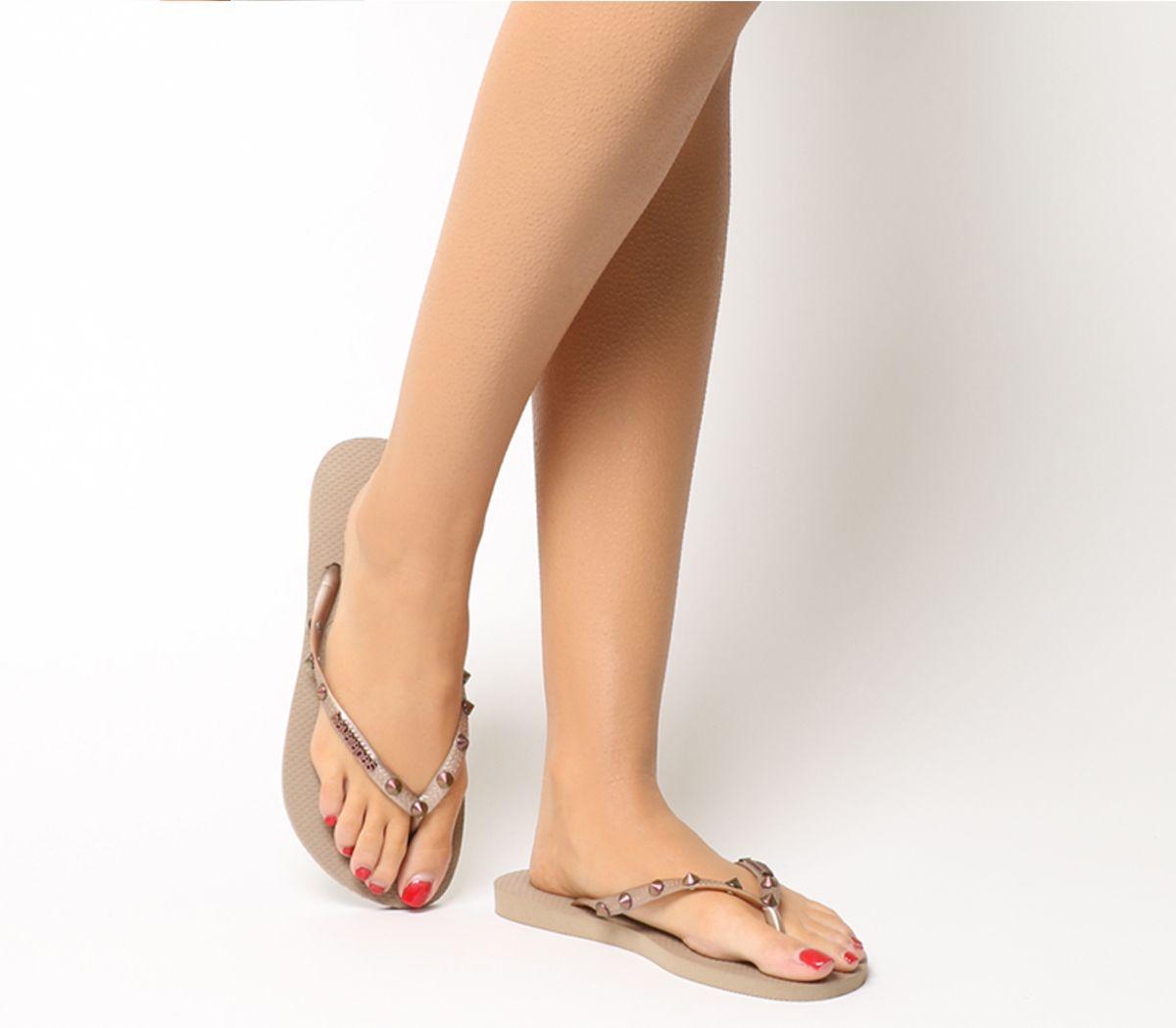 dd7b77534 Havaianas Slim Hardware Flip Flops Rose Gold - Sandals