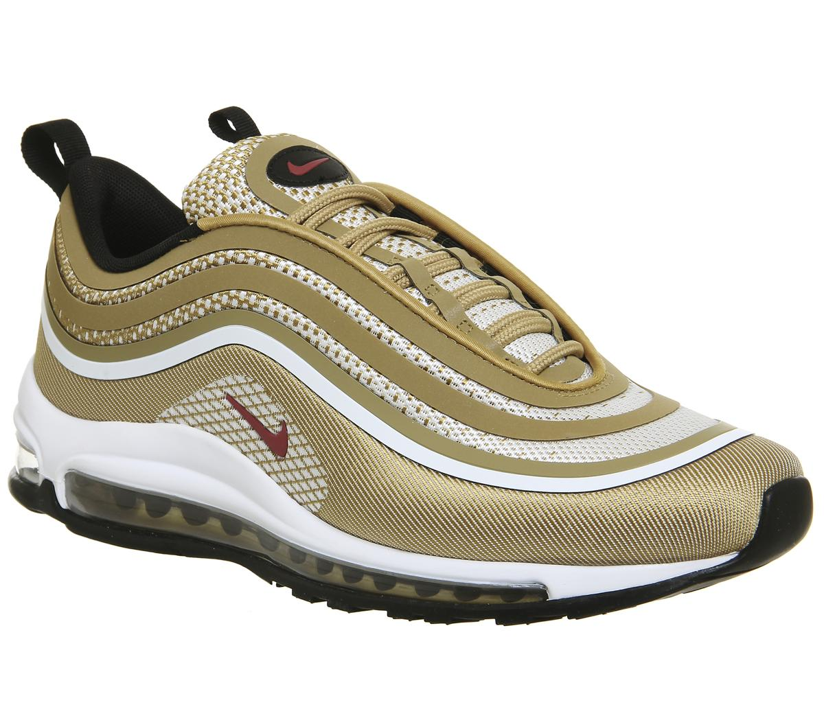 Mens Nike Air Max 97 UL 17 Synthetic & Textile Gold Shoes Trainers Casual 9 UK