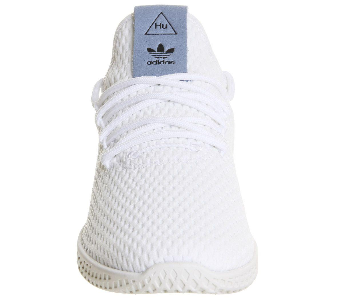 0a8fda98de866 adidas Pw Tennis Hu White Tactile Blue - Hers trainers