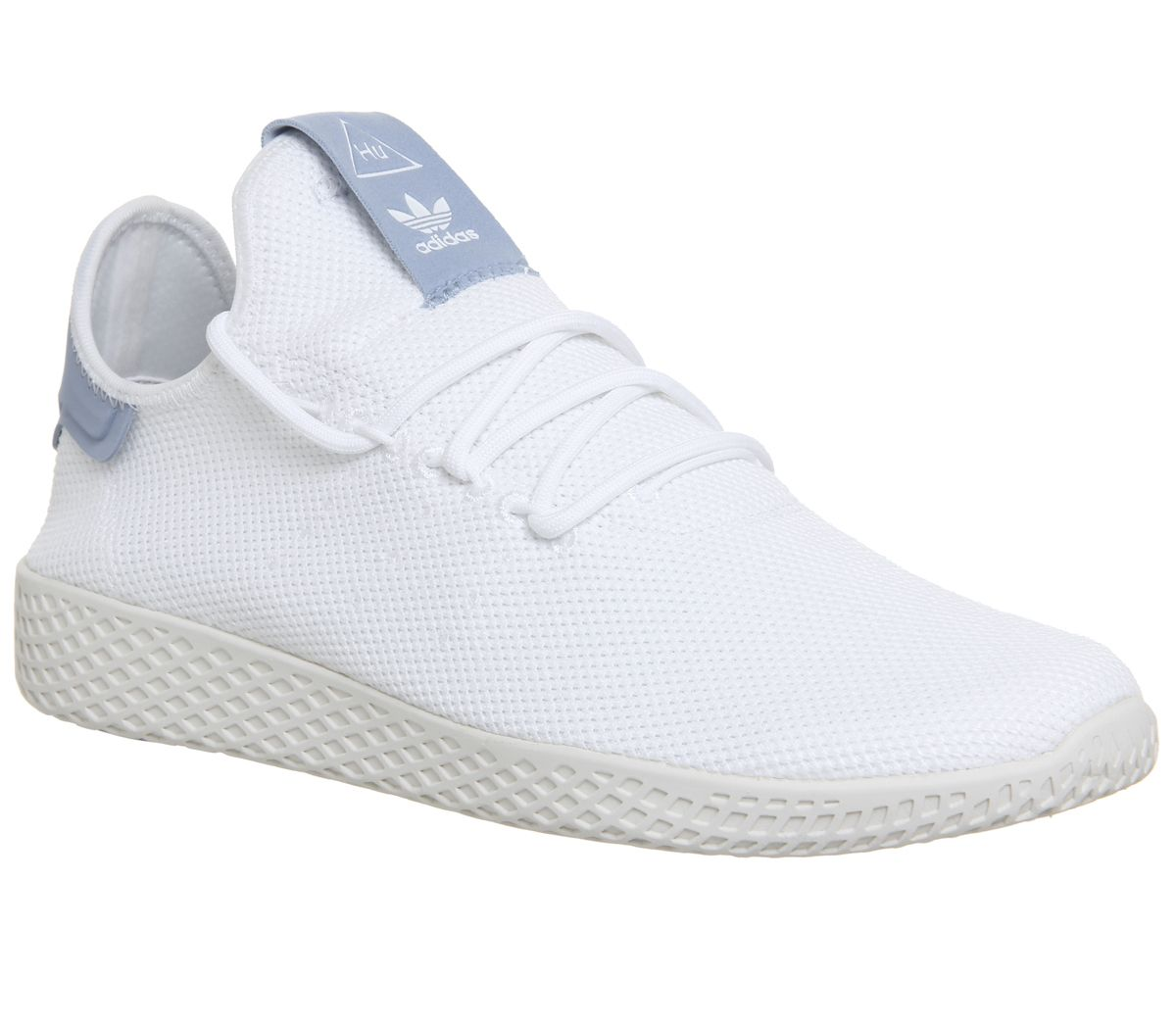 fba23f19223e9 adidas Pw Tennis Hu White White Blue - Unisex Sports