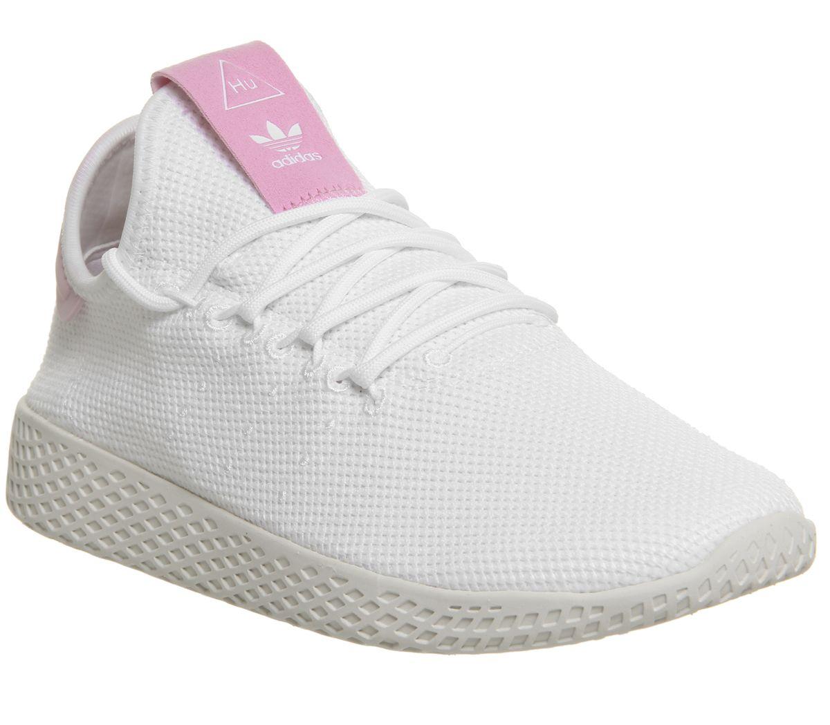 334216774c9ea adidas Pw Tennis Hu White White Pink F - Hers trainers