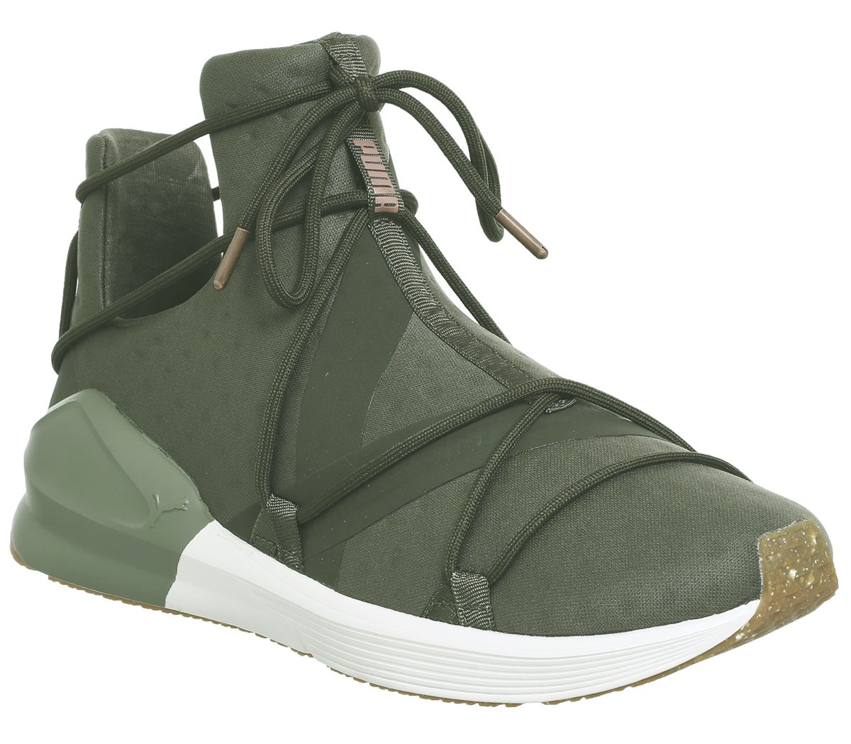check out 020f0 a7247 Puma Fierce Rope Trainers Olive Night White Vr - Hers trainers