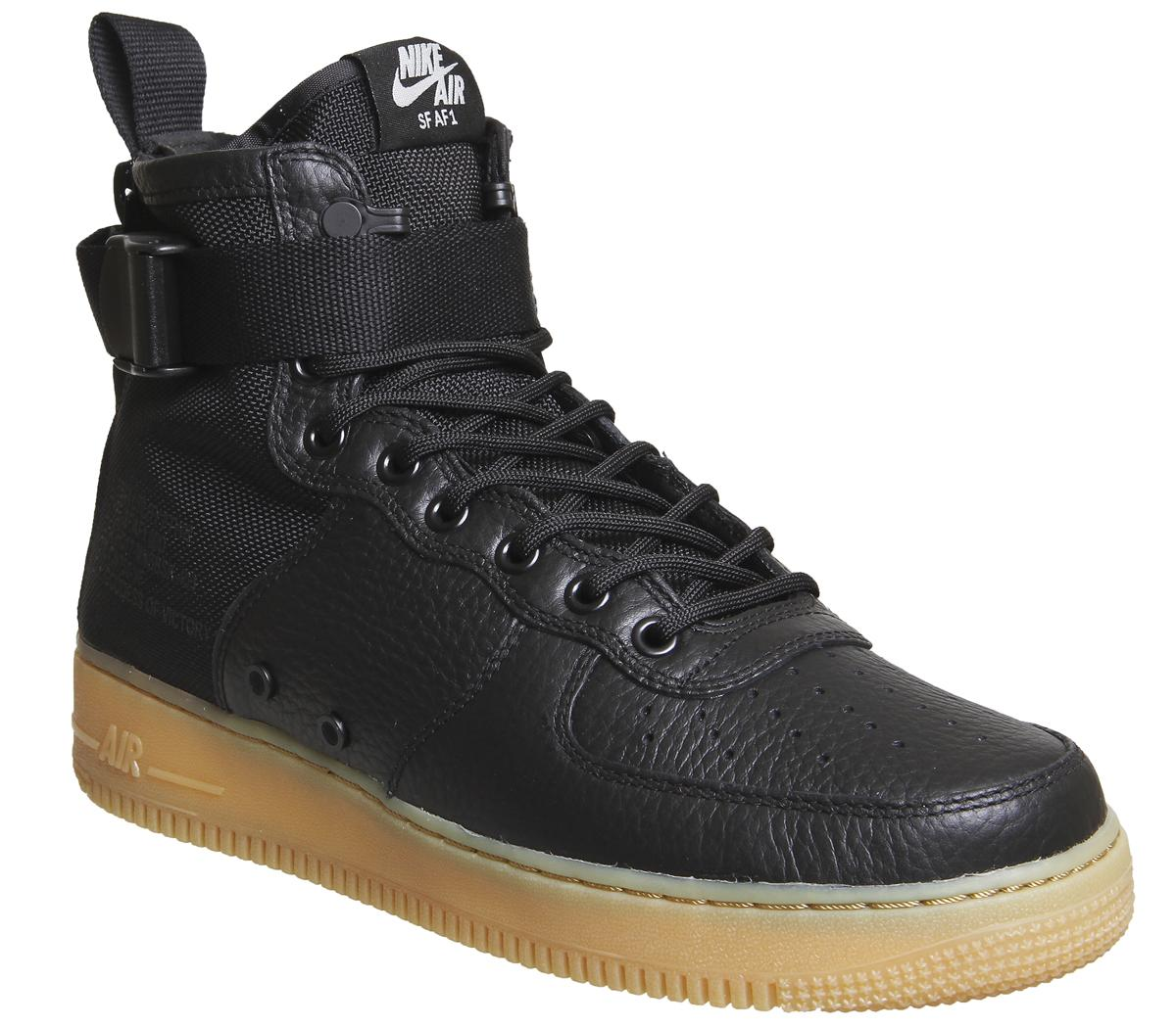 Nike Sf Af1 Mid 17 Black Black Gum
