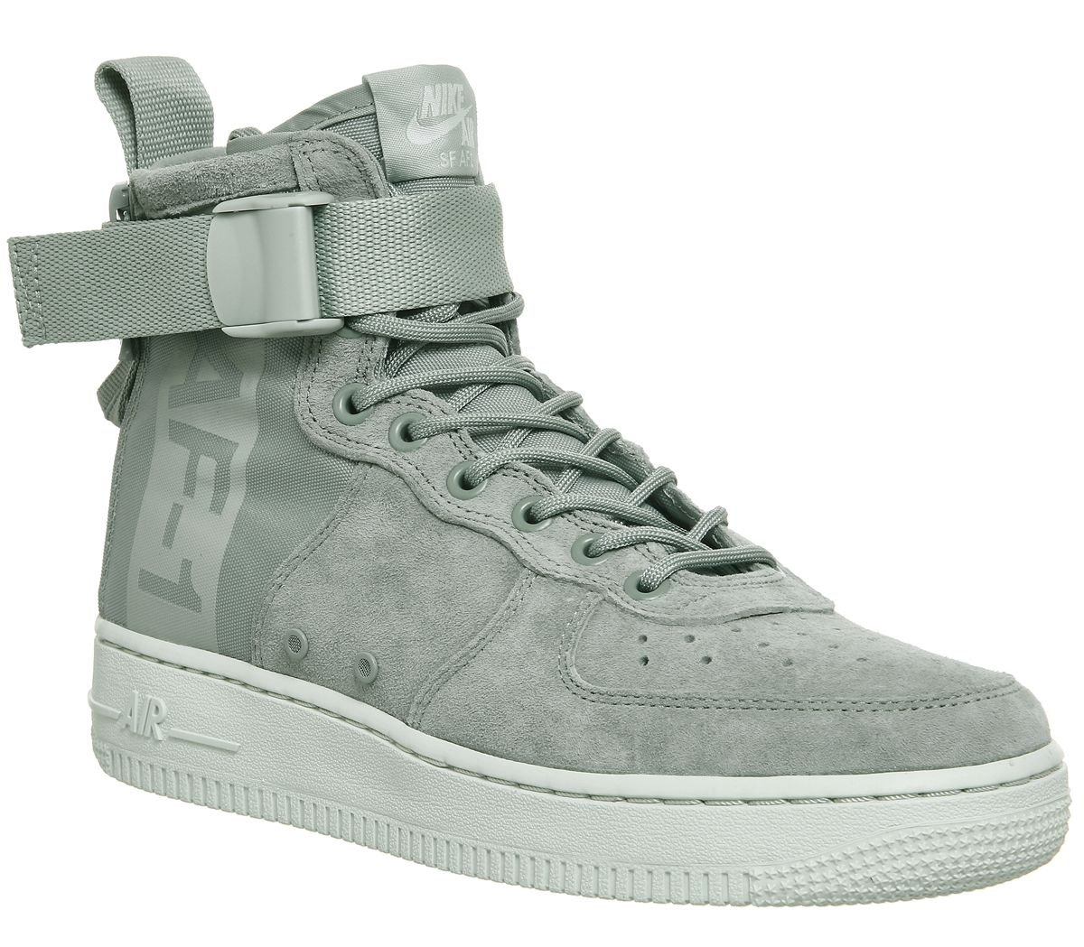 7accf2f9a021 Nike Sf Af1 Mid  17 Trainers Light Pumice Barely Grey F - Hers trainers