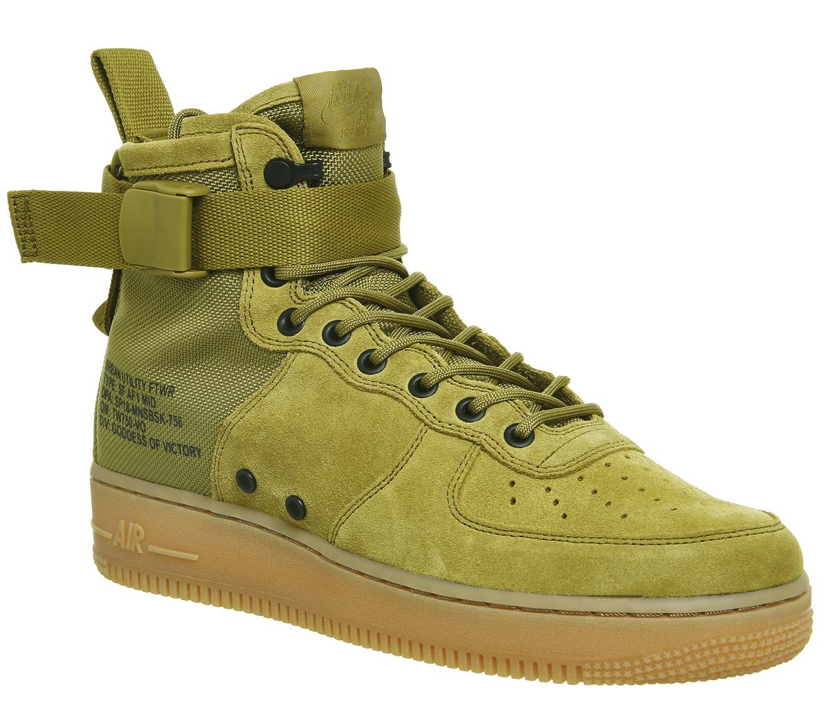 Nike Sf Af1 Mid 17 Trainers Desert Moss