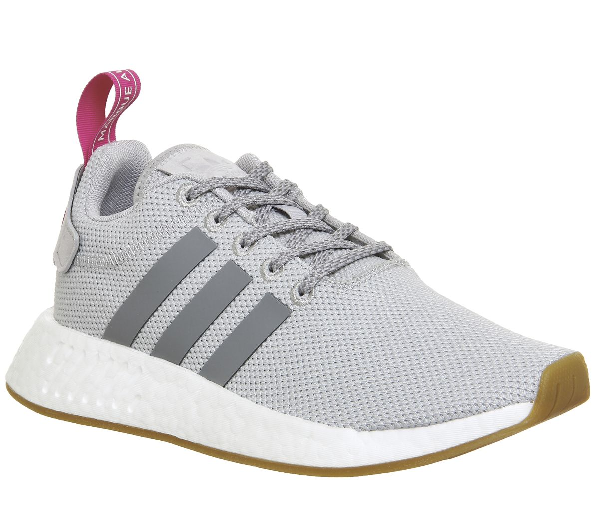 4b1f3231c7aee adidas Nmd R2 Trainers Grey Two Pink - Hers trainers