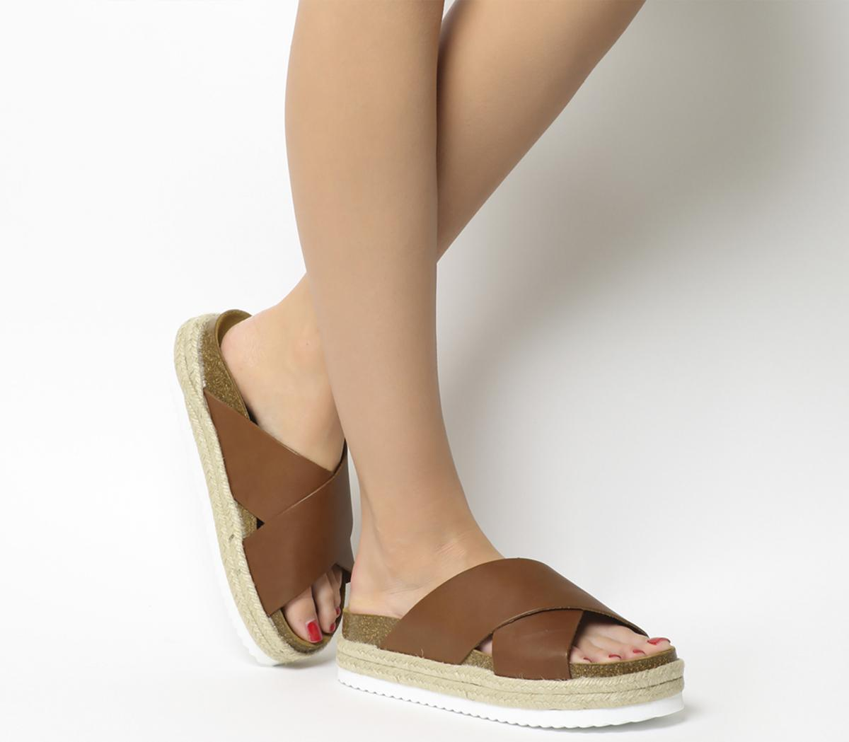 Mexico Cross Strap Footbed Sandals