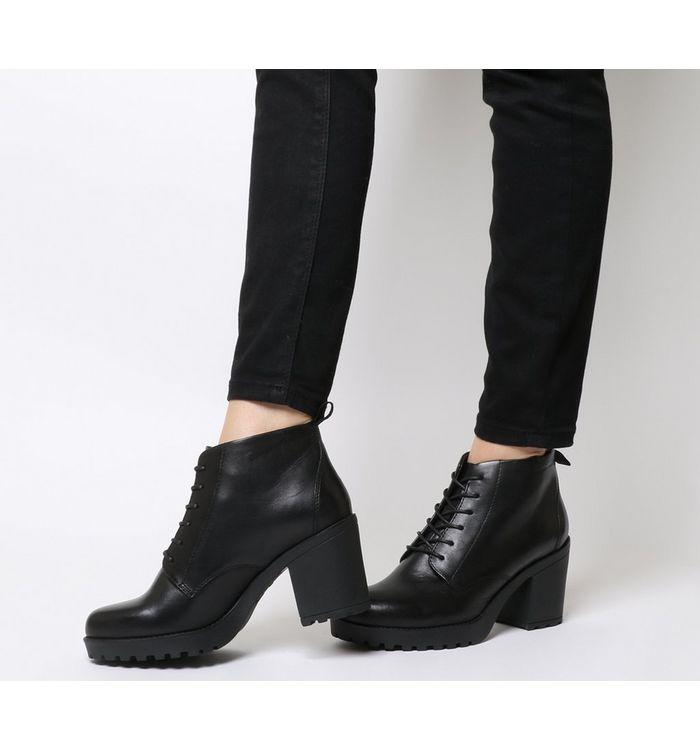vagabond grace lace boot black leather