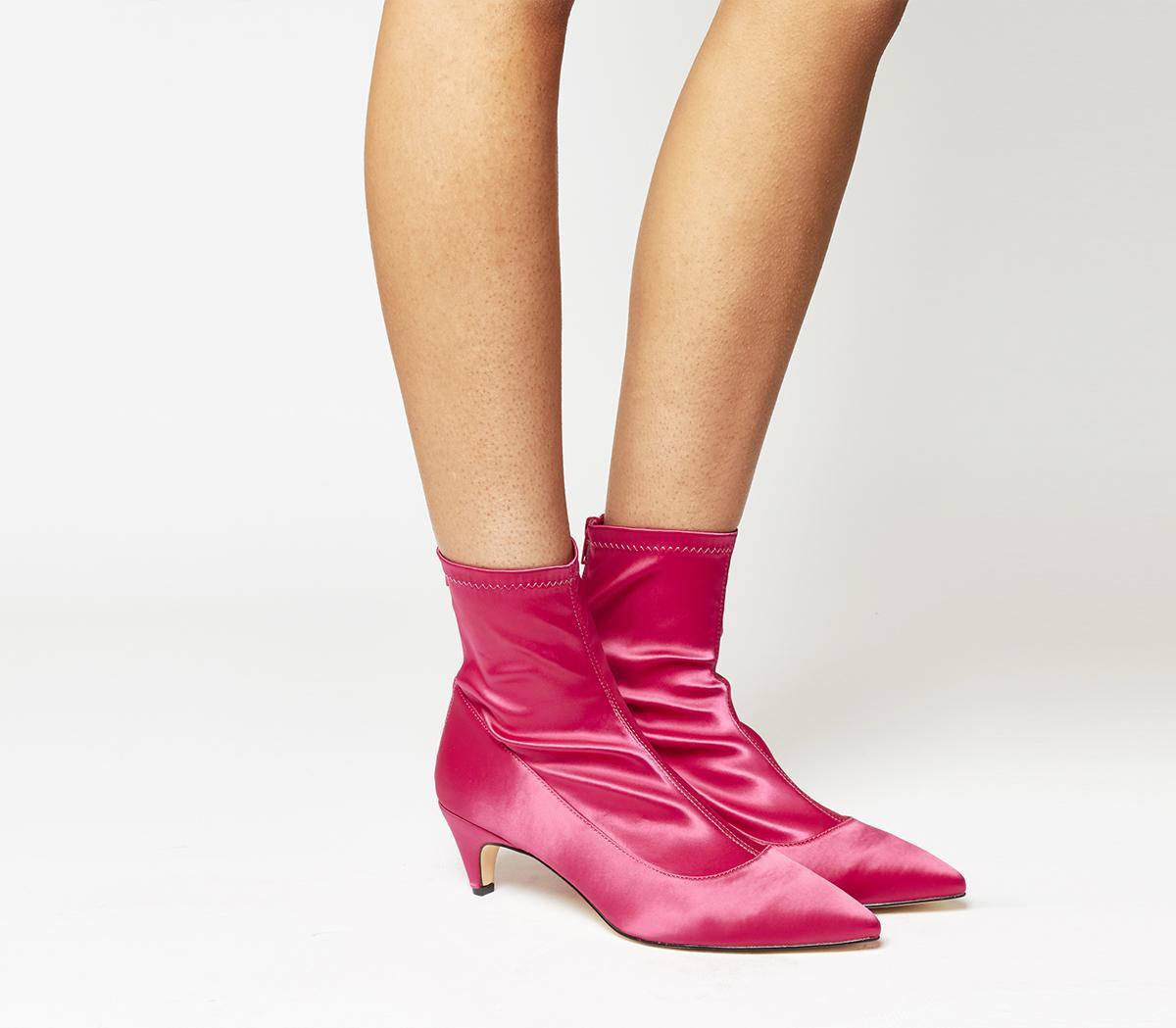 Atomic Stretch Kitten Heeled Boots