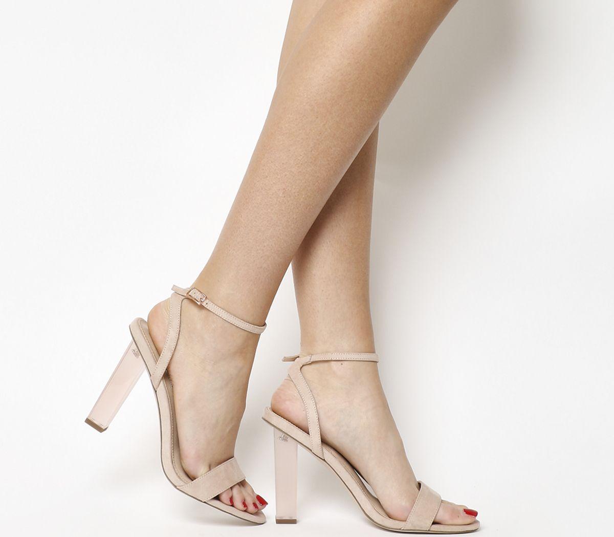 dfad3ade616 Office Hover Transparent Heel Sandals Nude - High Heels
