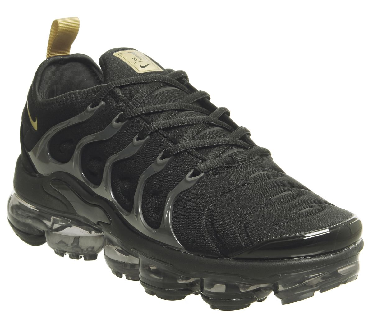ea4537d1d6 Nike Vapormax Air Vapormax Plus Trainers Black Metallic Gold - His ...