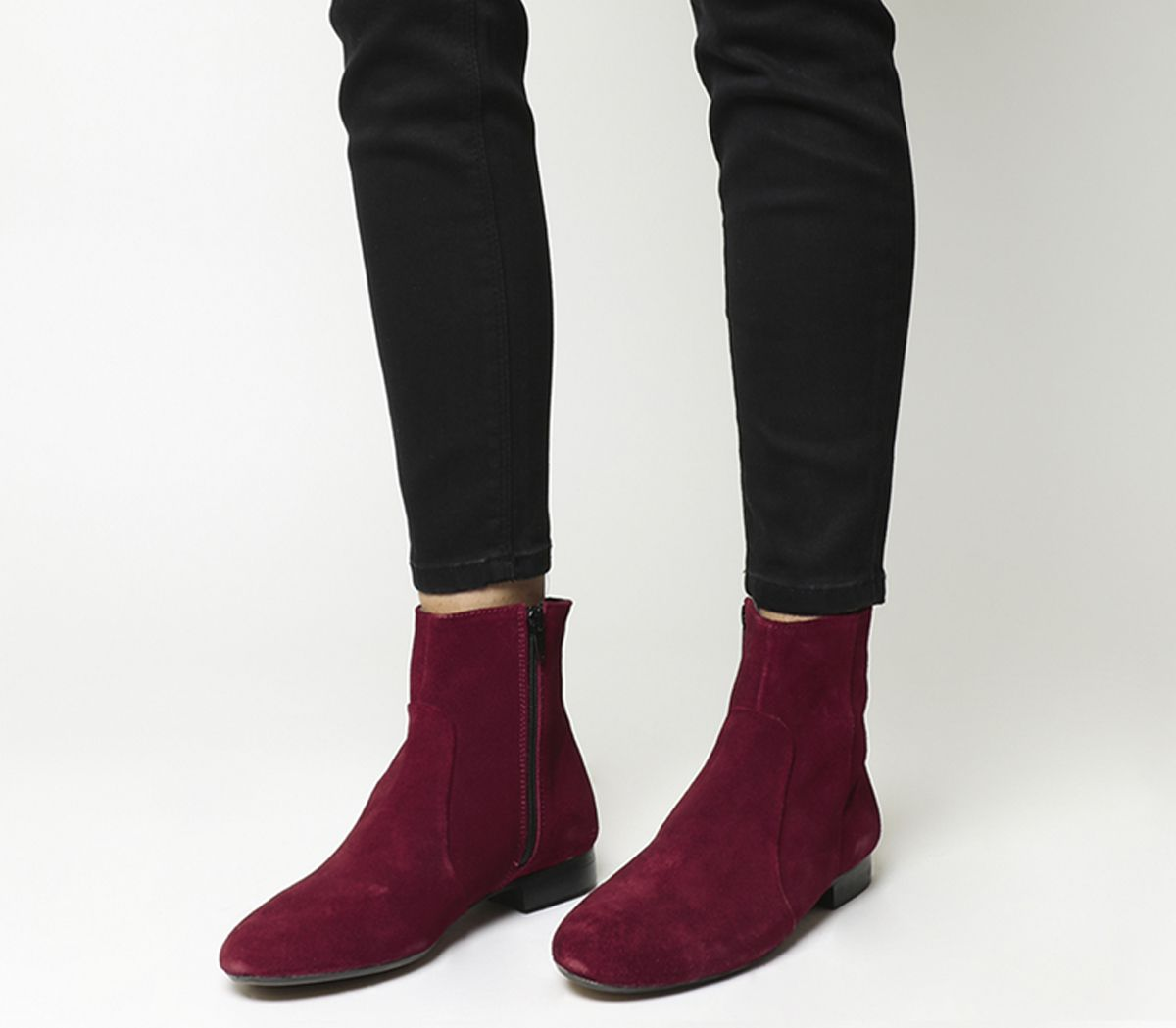 2441150e30d68 Office Avenue Flat Casual Boots Red Suede - Ankle Boots