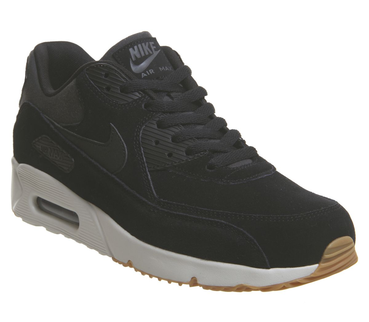 2e23c025 Nike Air Max 90 Ultra 2.0 Trainers Black Light Bone Gum - His trainers