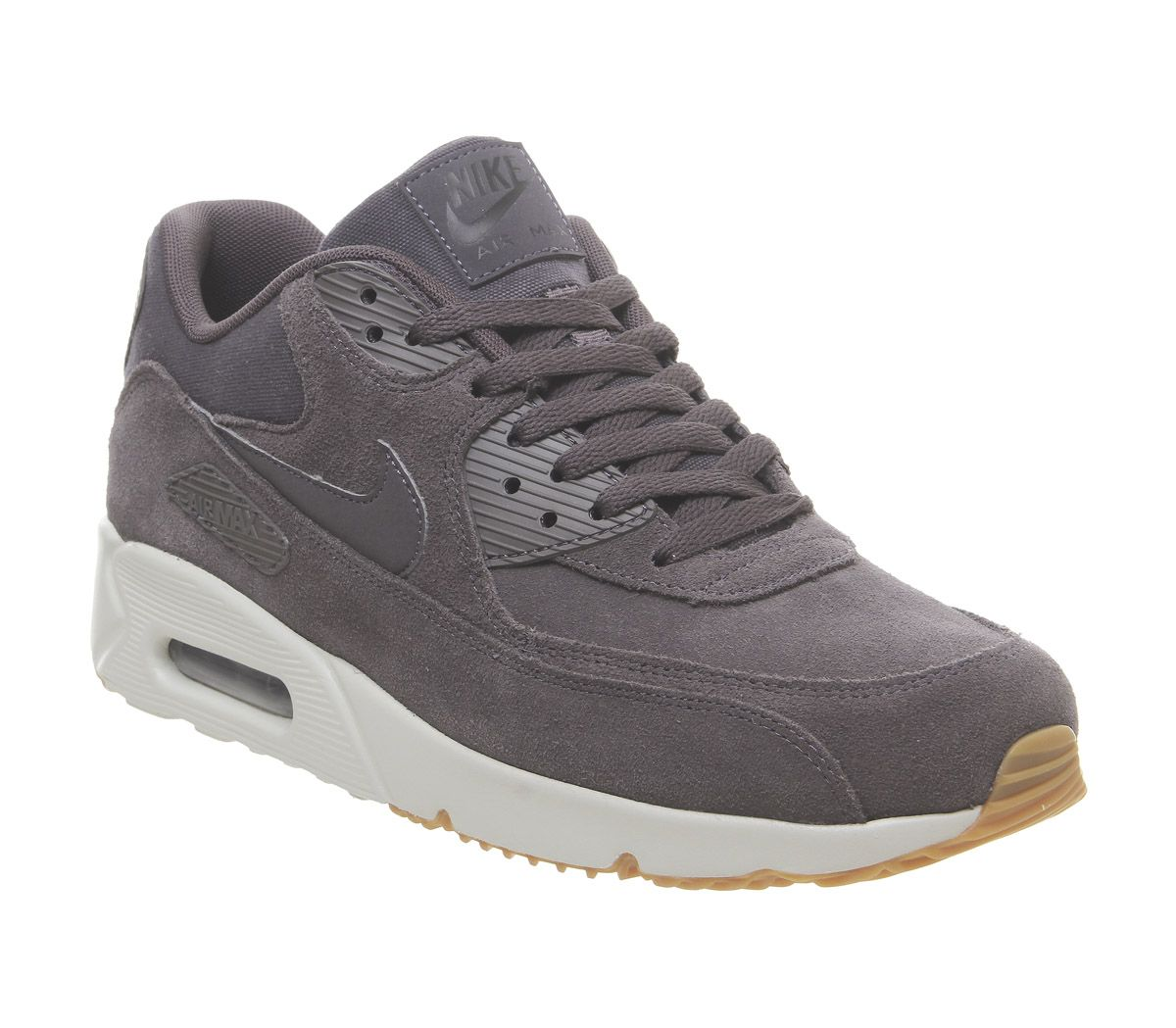 8959916f84 Nike Air Max 90 Ultra 2.0 Trainers Thunder Grey Light Bone Gum - His ...