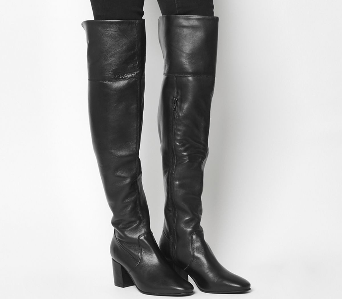 e8f6dc4b614 Office Krissy Over The Knee Boots Black Leather - Knee Boots
