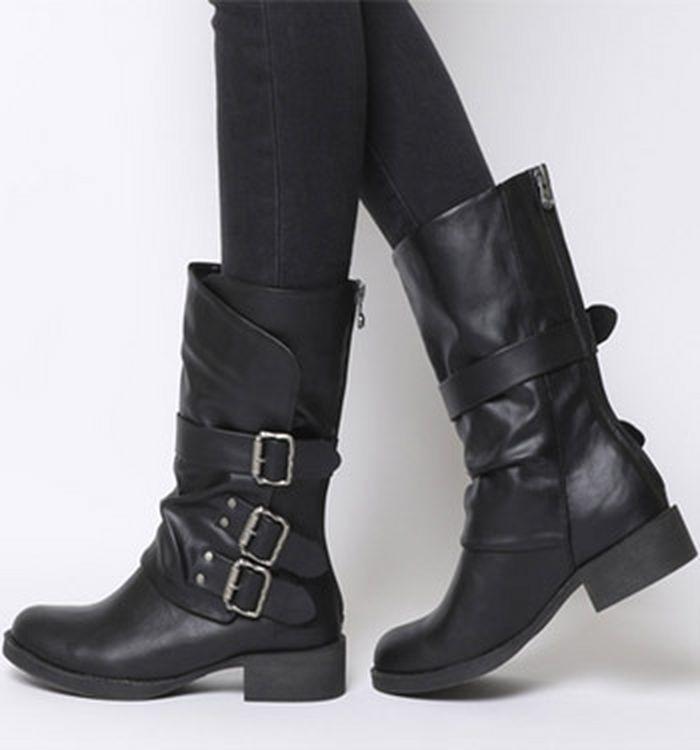 d50aee7cf Knee High Boots   Heeled & Flat Knee Boots   OFFICE