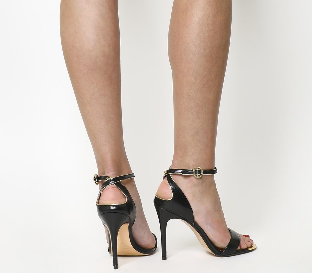 28a28a7c3 Ted Baker Mirobell Strappy Heels Black Leather - High Heels