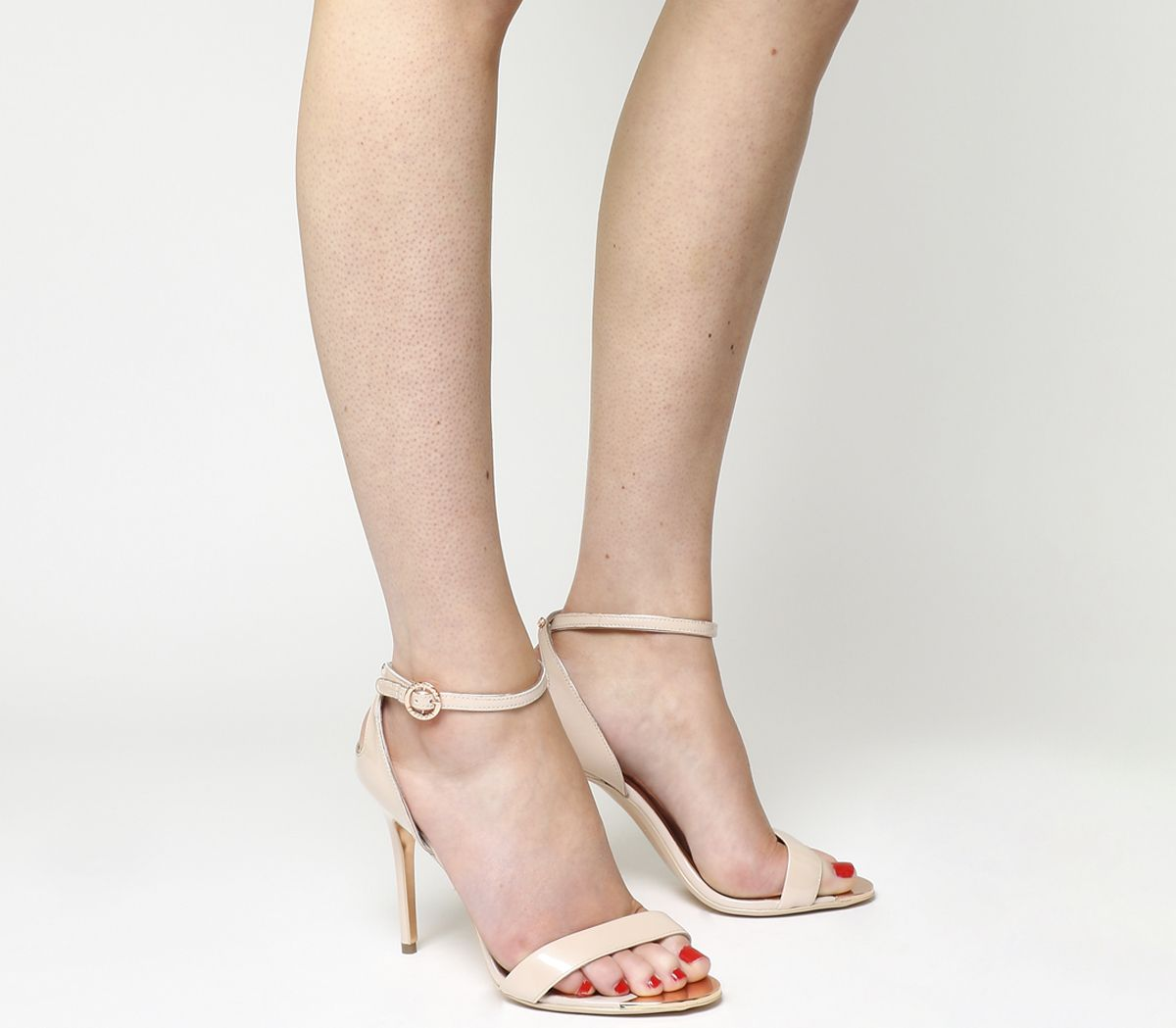 f10e090d4 Ted Baker Mirobell Strappy Heels Nude Patent Leather - High Heels