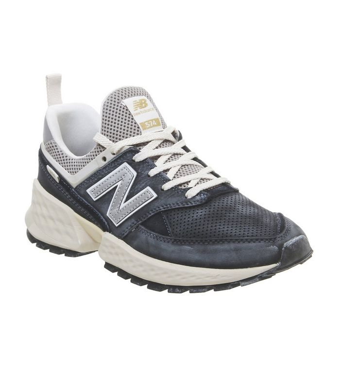 best sneakers fbd1d 789e8 New Balance 574s Trainers Dark Navy Black - His trainers