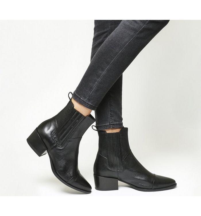 9fa98c6650 Vagabond Grace Heeled Chelsea Boots Black Nubuck - Ankle Boots