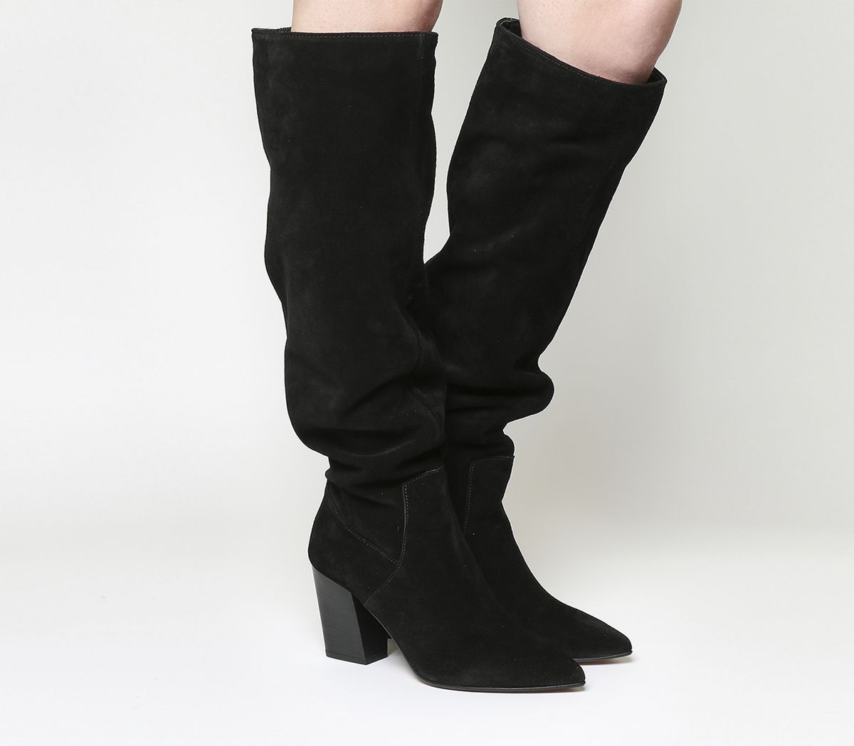 0a8cfc1bcfc7 Office Kola Slouch Suede Knee Boots Black Suede - Knee Boots