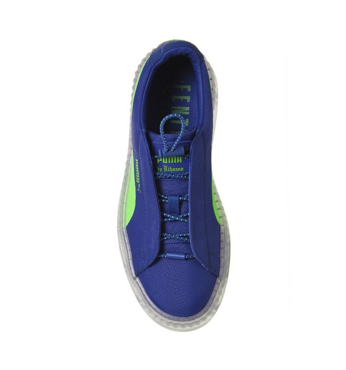 pretty nice f1469 80f11 Puma Fenty Cleated Creepers Surf Dazzling Blue Green - Hers ...