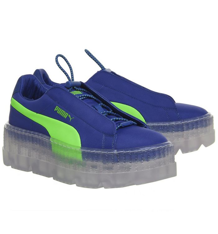 pretty nice 657e0 eb773 Puma Fenty Cleated Creepers Surf Dazzling Blue Green - Hers ...
