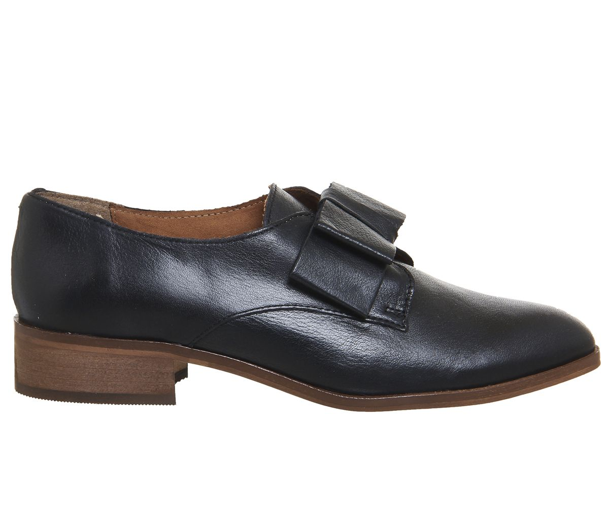 5d63bd5caaf5 Office Flexa Slip On With Bow Black Leather - Flats