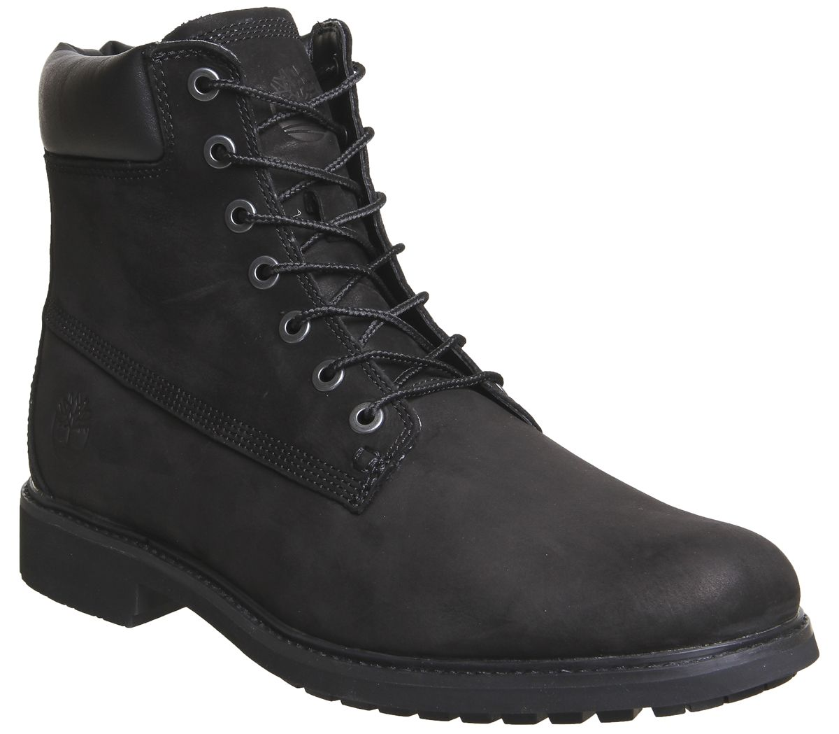 e42d8409c63 Timberland Mens Slim 6 Inch Boots Black Nubuck - Boots