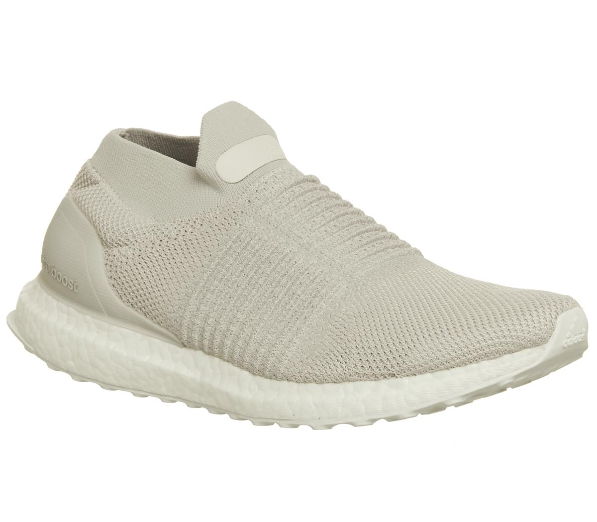 ff17dc79c3dec adidas Ultraboost Ultra Boost Laceless Chalk Pearl - His trainers