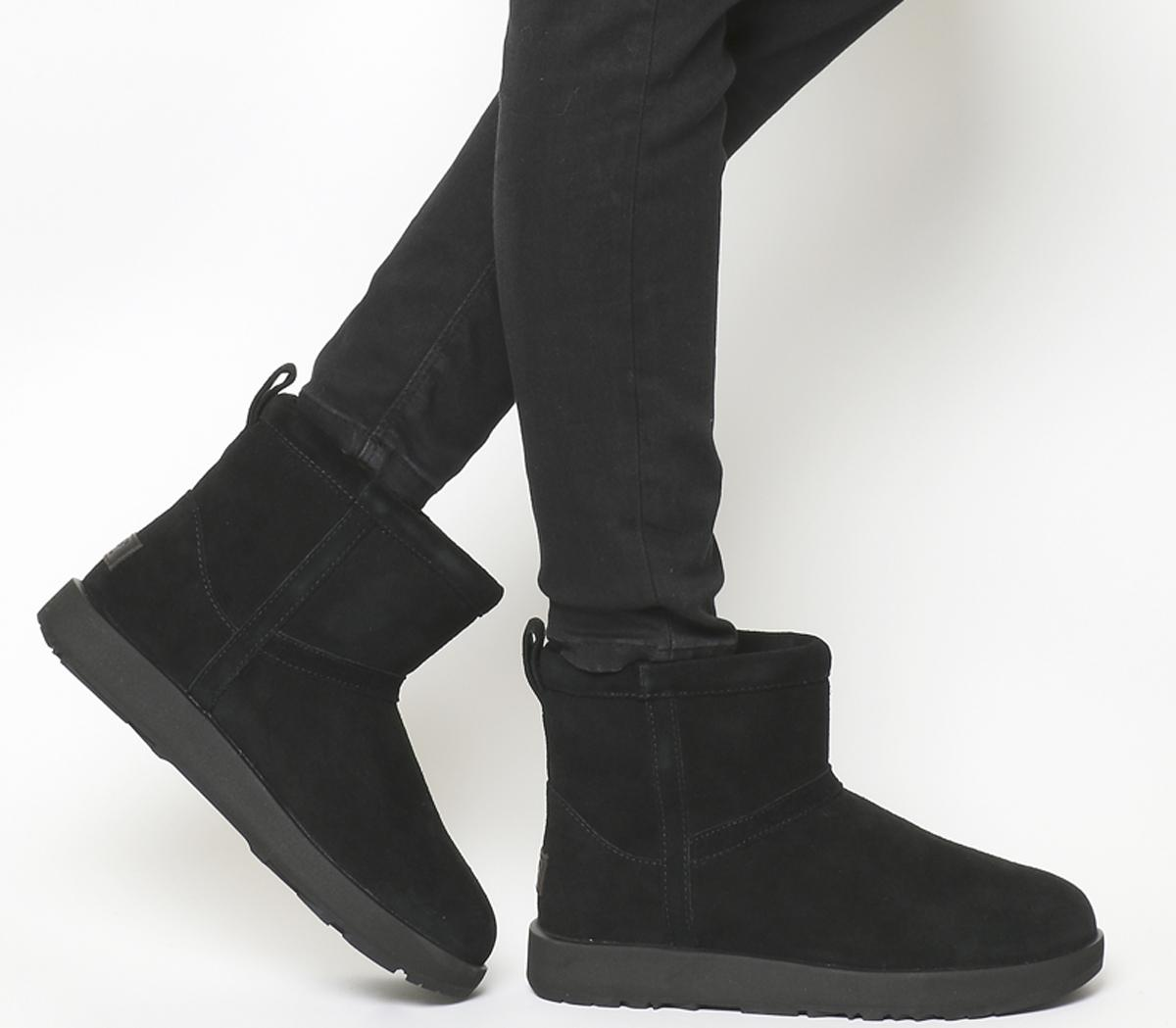 Classic Boots Black UGG Classic Mini Leather Waterproof Womens Black — HMG Properties