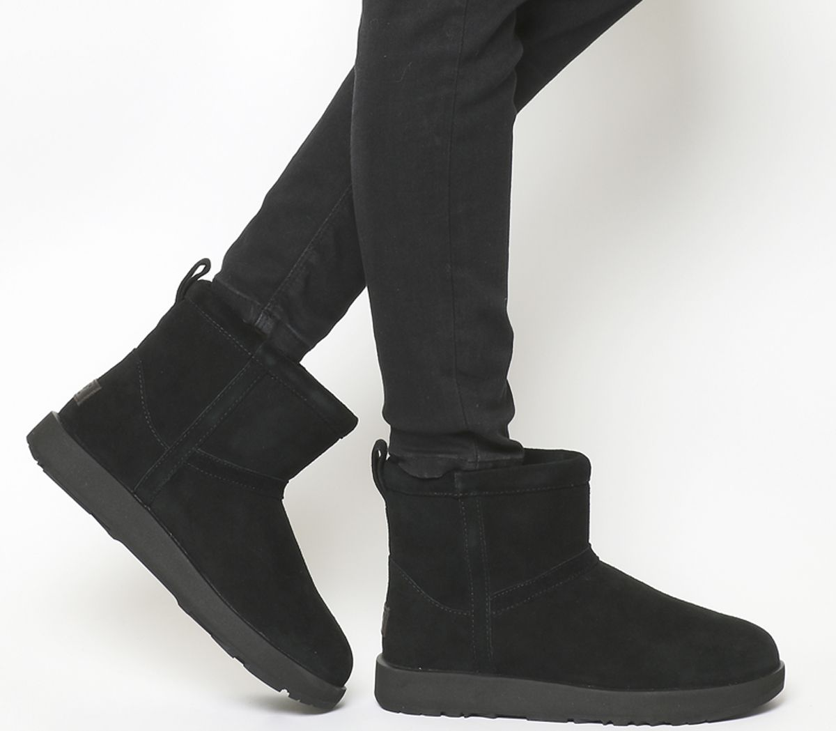 7b4618767f50 UGG Classic Mini Waterproof Boots Black Suede - Ankle Boots