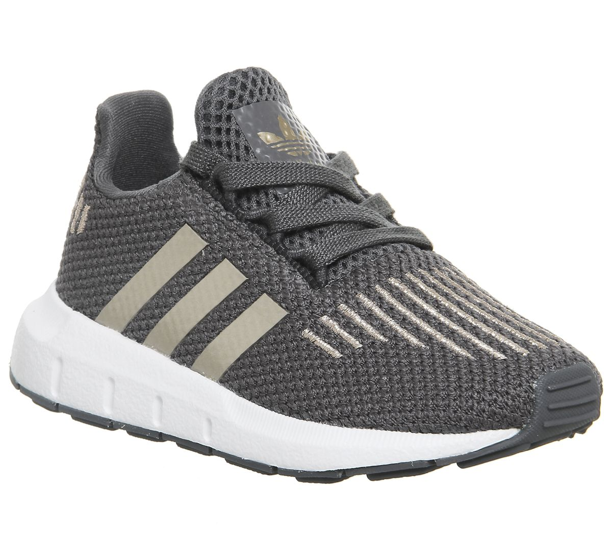 0cc29e6efbb60 adidas Swift Run Infant Trainers Grey Pink - Unisex