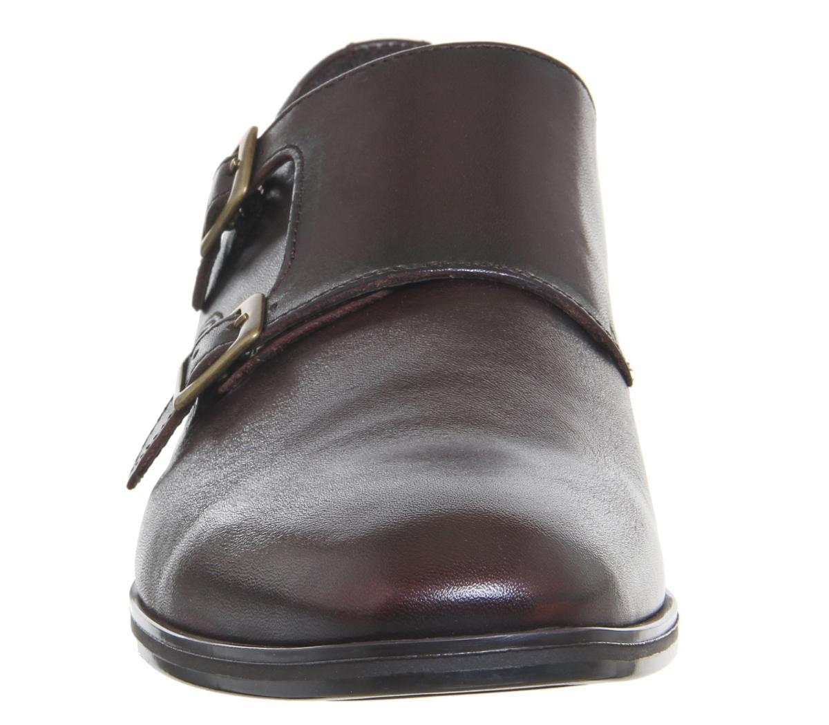 Monk Schuhe aus hellbraunem Leder