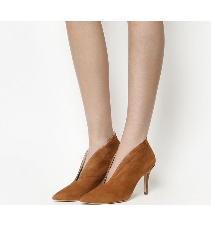 Office Me Too V Front Shoe Boot TAN SUEDE