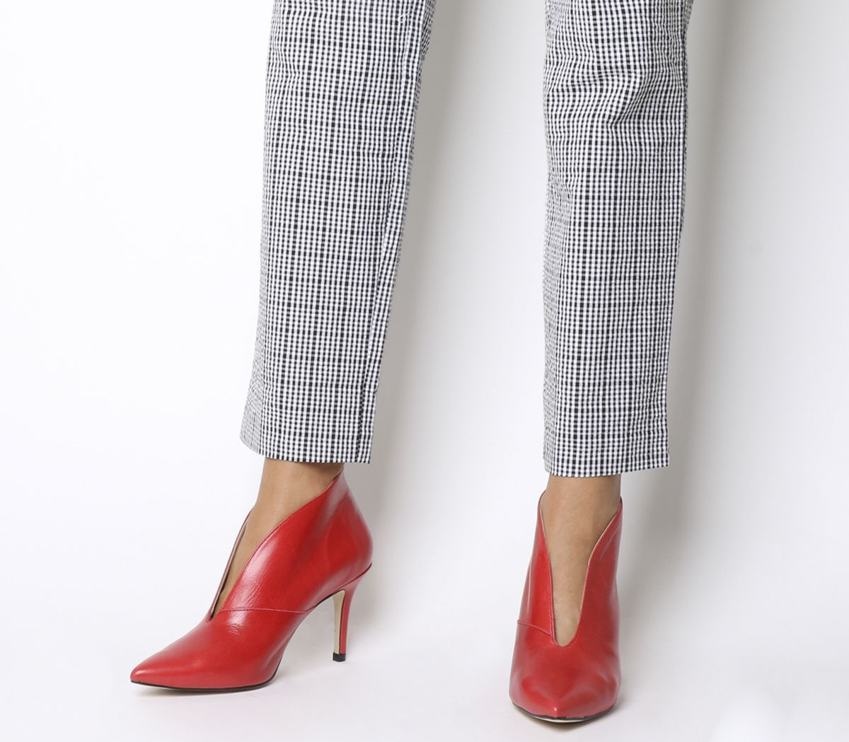 4349c07bb Office Me Too V Front Shoe Boot Red Groucho - Mid Heels