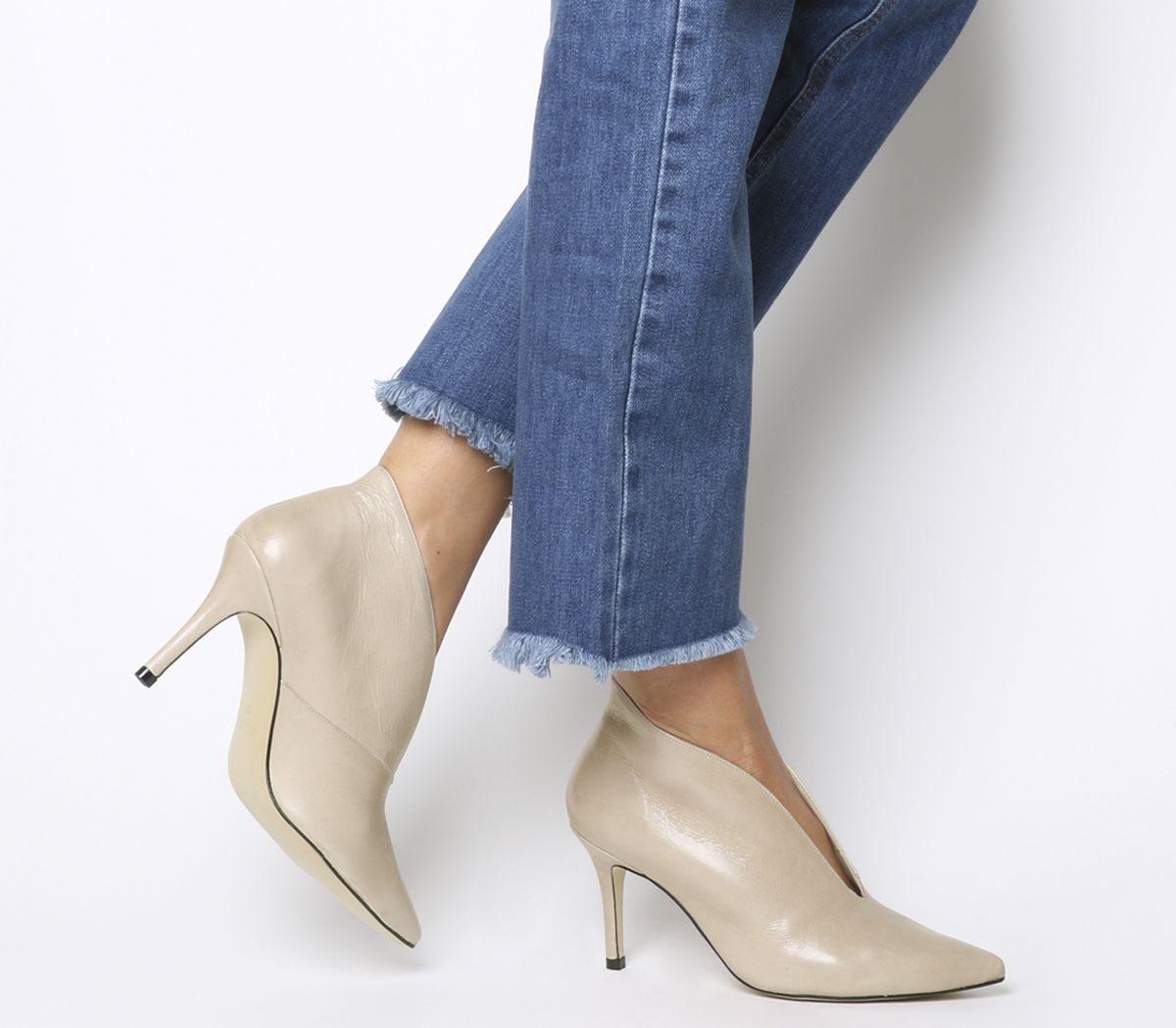 4e4f8223c Office Me Too V Front Shoe Boot Nude Groucho - Mid Heels