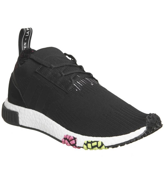 85be5957b290b adidas Nmd Racer Primeknit Core Black Solar Pink - His trainers