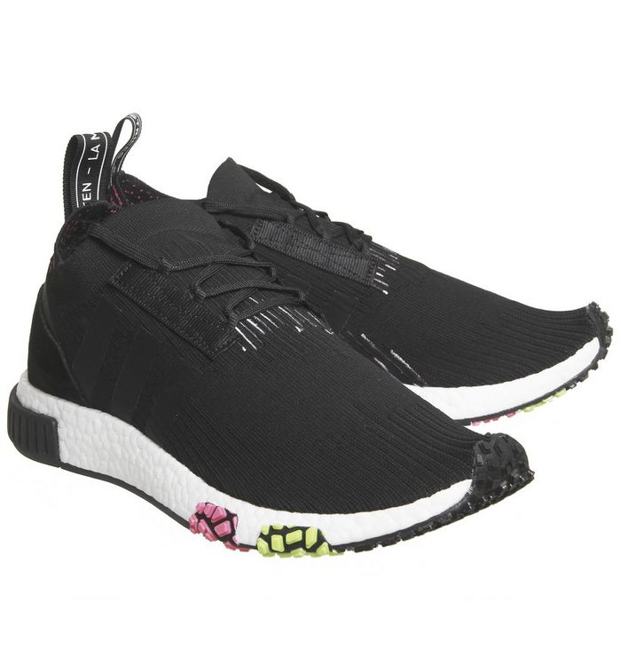 a71b1a28a adidas Nmd Racer Primeknit Core Black Solar Pink - His trainers