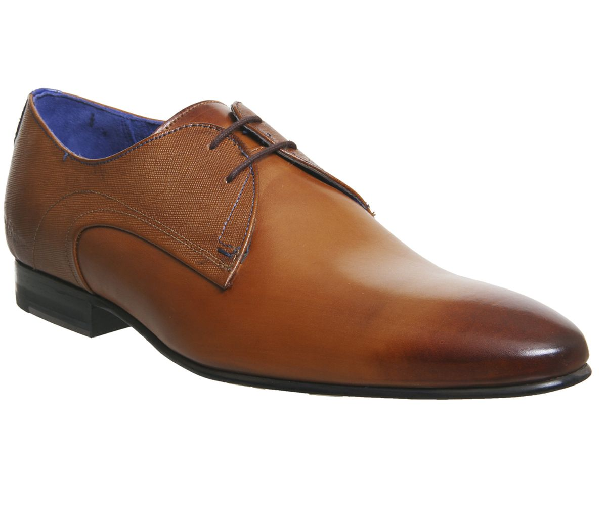 5d93be6e82ff5 Ted Baker Peair Lace Up Shoes Tan Leather - Smart