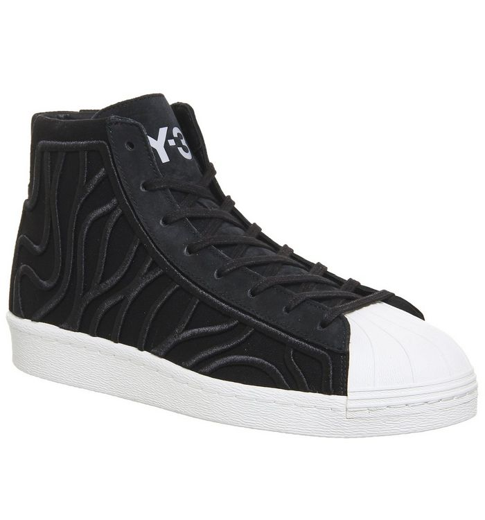 8bccd18dd adidas Y3 Y-3 Shishu Super Trainers Black White - Hers trainers